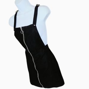 Black zip up overall dress. Size 4